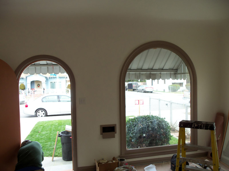Arched door and window casing