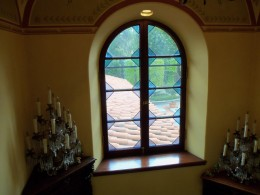 Arched window casing