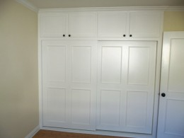 Built-in closet with by-pass doors alt view