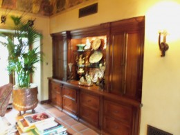 Cherry wood china cabinet display showcase