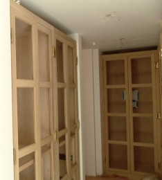 Closet before stain