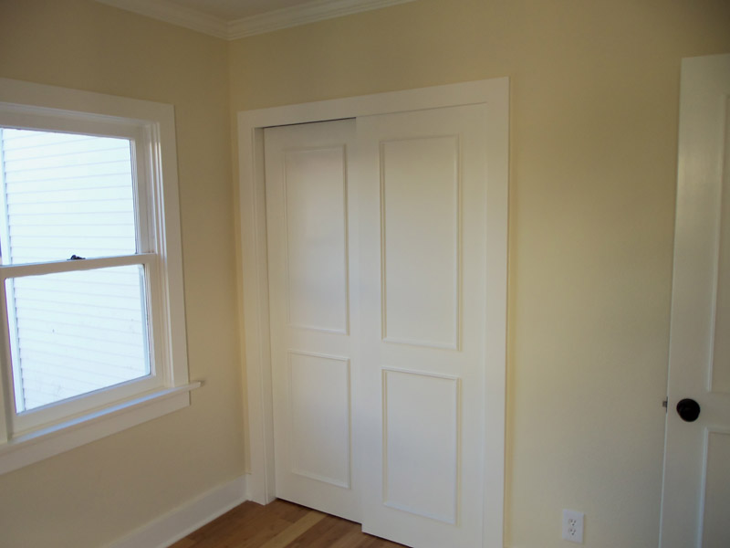 Closet with by-pass doors