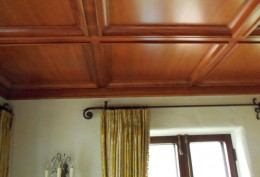 Coffer ceiling with Douglas fir