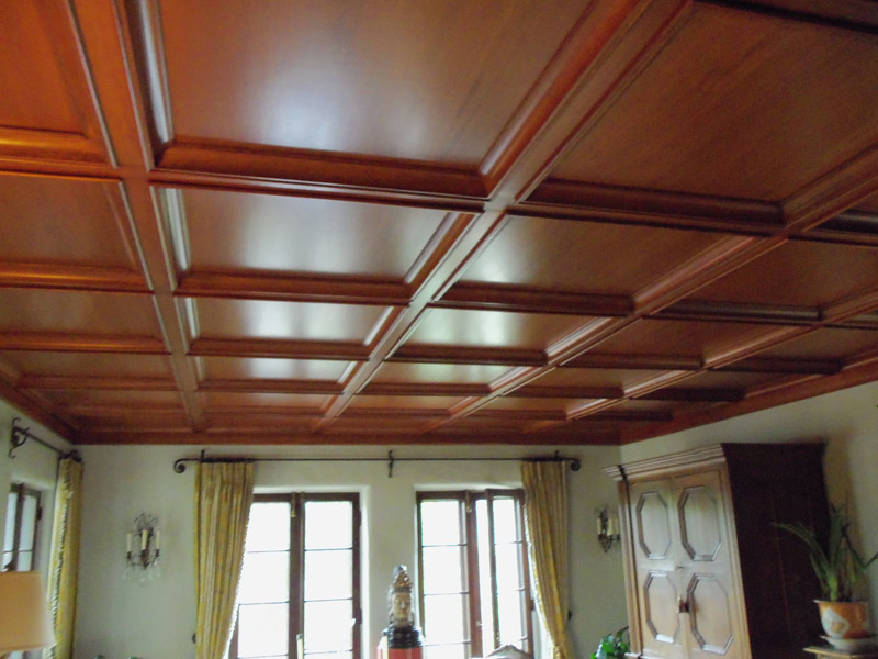 Coffer ceiling with Douglas fir alt view
