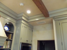 Custom beams and crown