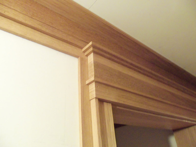 Custom jamb casing and crown molding