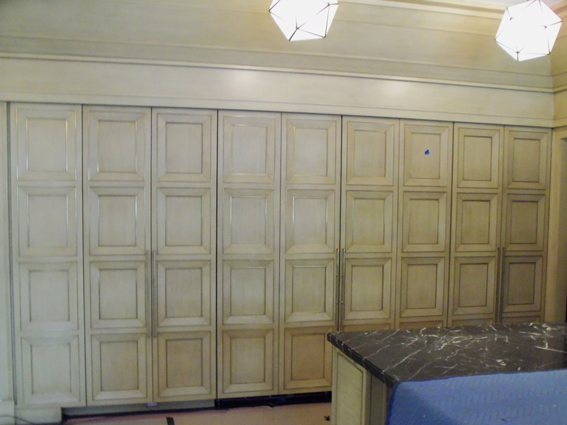 Custom panels with matching refrigerator doors