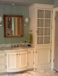 His and hers vanity with radius doors alt view 2