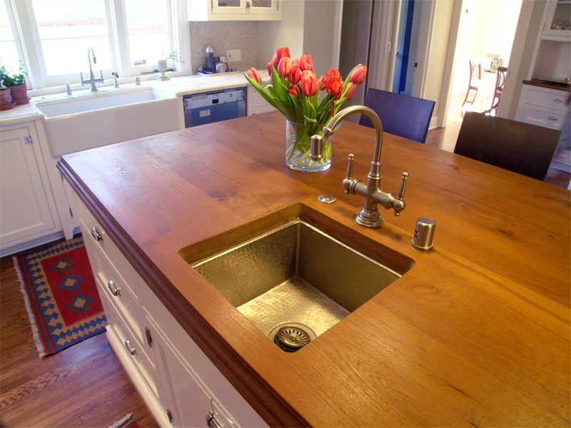 Kitchen Island With Mahogany Wood Top
