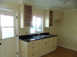 Kitchen with absolute black granite counter top alt view 1