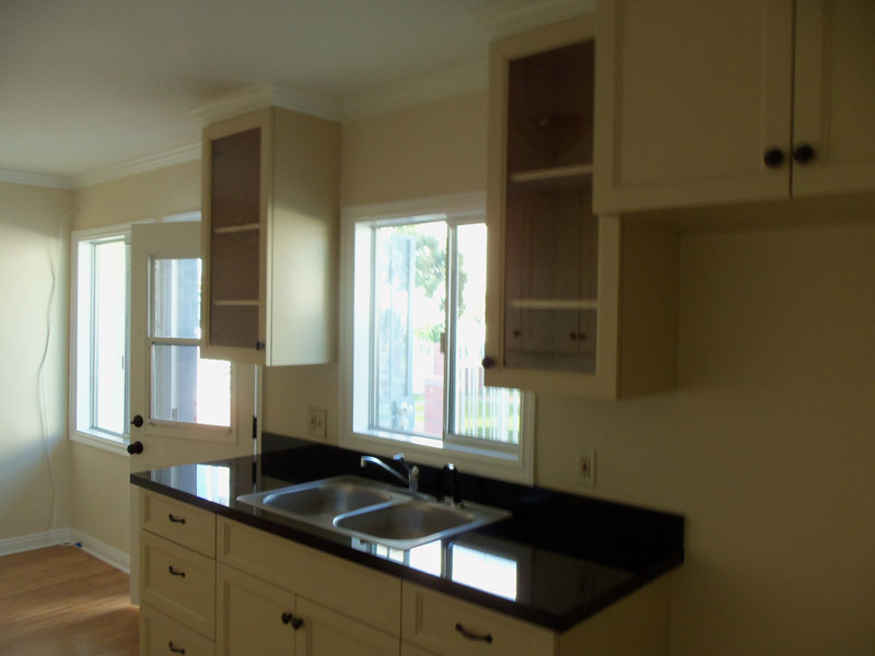 Kitchen with absolute black granite counter top alt view 2