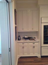 kitchen cabinets with custom feet/leg
