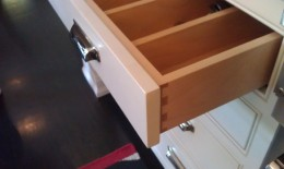 Maple dovetail drawers