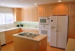 Maple kitchen with island
