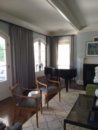 Living room with custom millwork