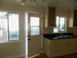 Paint grade kitchen with Shaker style doors