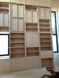 Painted custom library bookcase