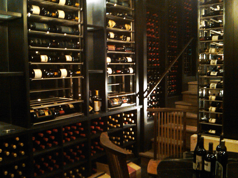 Stained wine cellar