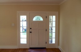 Traditional style front entry
